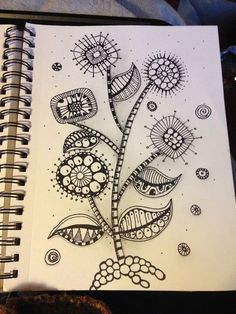 doodle art - Zentangle inspired Mod Flowers! Zentangle like - zentangle inspired - zentangle patterns - #zentangle #doodleart