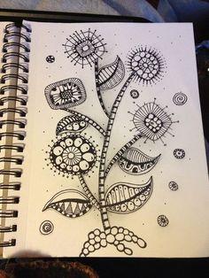 doodle art - Zentangle inspired Mod Flowers! Zentangle like - zentangle inspired - zentangle patterns - #zentangle #doodleart