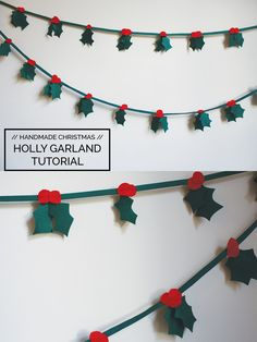 holly christmas garland tutorial http://blog.megannielsen.com/2011/12/holly-christmas-garland-tutorial/?utm_campaign=coschedule&utm_source=pinterest&utm_medium=Megan%20Nielsen%20Patterns&utm_content=holly%20christmas%20garland%20tutorial