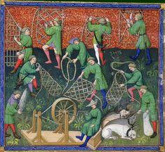 Le livre de chasse, folio 53v  ci devise comment on doit faire et lacer toutes manières de lacs