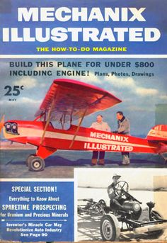 """The May 1955 issue of Mechanix Illustrated magazine with the cover story that first put EAA """"on the map."""""""