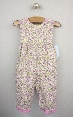 Nwot Janie And Jack Baby Girl Layette Floral Romper And Bib 3-6 Months Purple Baby & Toddler Clothing