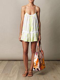 Juliet Dunn-Neon embroidered dress