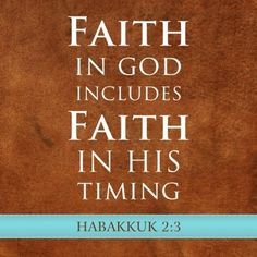 """""""For the vision is yet for an appointed time…though it tarries, wait for it"""" (Habakkuk 2:3, KJV).    God has an appointed time to fulfill the visions, dreams, and desires in your heart. Just because it has taken a long time or because you've tried and failed doesn't mean it's not going to happen. Don't give up on those dreams! Don't be complacent about pursuing what God has placed in your heart."""