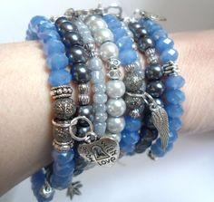 Hey, I found this really awesome Etsy listing at https://www.etsy.com/listing/270198454/aquamarine-silver-bracelet-multi-charm