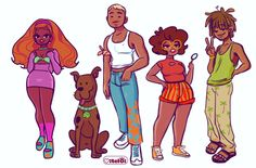 "IG: @VITELOI ♥ on Twitter: ""Scooby Doo Gayng 🔍👣🥰… "" Dope Cartoons, Dope Cartoon Art, Cartoon Art Styles, Black Girl Cartoon, Black Girl Art, Be Cool Scooby Doo, Velma Scooby Doo, Scooby Doo Movie, Scooby Doo Mystery Incorporated"