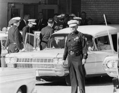 Jackie leaves Parkland Hospital in Dallas, on November 22, 1963.