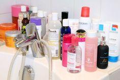 A couple La Roche-Posay products, far right, on actress Léa Seydoux's bathtub.