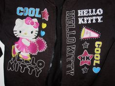 Hello+Kitty+Black+Hoodie+Hooded+Jacket+Girls+Size+Large+L+10+-+12  for sale at www.yardsalebargains.ecrater.com