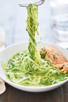 When it's hot outside, twirl your fork around these thin, ultra-crisp cucumber noodles dressed with a vinaigrette of lemon zest, olive oil, a little garlic, and dill.