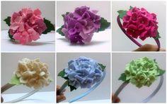 Green Flower headband, Green Hydrangea headband, Pistachio Green Floral wool felt hairband - Hydrangea hair clip, Hair accessory for girls