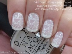 OPI Dont Touch My Tutu Stamping