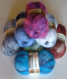 Crazy Mohair 70% mohair yarn, super soft luxury mohair knitting and crochet yarn