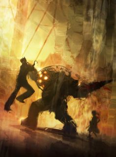 Bioshock- Big Daddy by ~skybolt on deviantART (I keep hearing wonderful things about this game. I'll have to play it.)