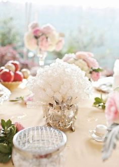 Rock candy is a fun and pretty favor for your guests! Photo by Perez Photography.