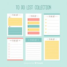Modern to do list collection with colorful style , To Do Lists Printable, Printable Planner, Notes Template, Planner Template, Printables Organizational, Cute Planner, Weekly Planner, Note Doodles, Journaling