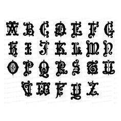 Clip Art Vintage, Gothic Alphabet, Garden Frame, Cursive Letters, Antique Watches, Vector Clipart, Floral Border, Lettering, Lower Case Letters