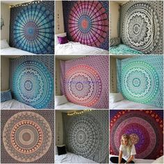 Wall Tapestry Indian Tapestry Twin/Queen Size Mandala Tapestry Cotton Wall Decor Bohemian Tapestry W