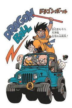 "mysticmew: ""Dragonball and cars by Toriyama Akira. part : dbz and bikes "" so tiny, so great. Manga Anime, Old Anime, Sheng Long, Tv Movie, Manga Dragon, Rock Poster, Animated Dragon, Manga Artist, Arte Pop"