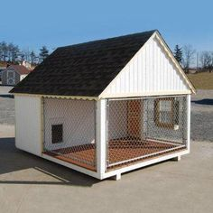 Cape Cod Cozy Cottage Kennel Dog House: by Little Cottage
