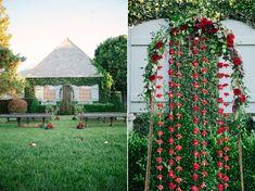 Romantic Valentines Day Wedding Ceremony Decor