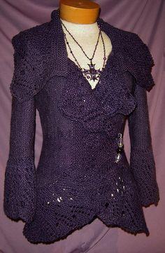 -OHHH MY-love this!Ravelry: Emma Cardigan pattern by Joan McGowan-Michael Cardigan Pattern, Jacket Pattern, Crochet Cardigan, Knit Crochet, Cardigan Design, Women's Shapewear, Lacemaking, Madame, Sweater Jacket