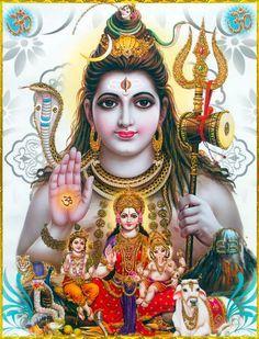 Lord Shiva with Parvati Ganesha Murugan Lord Shiva Hd Wallpaper, Lord Vishnu Wallpapers, Ganesh Wallpaper, Shiva Art, Hindu Art, Krishna Art, Hare Krishna, Bhagavad Gita, Shiva Shankar
