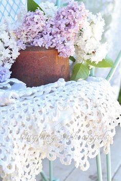 laughing with angels: lilacs, linens and lily-of-the-valley