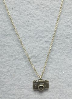 I'll take this. Thank you. :)Dainty 'Vintage Camera' Charm Necklace Light Antique by OneSEC, $9.00