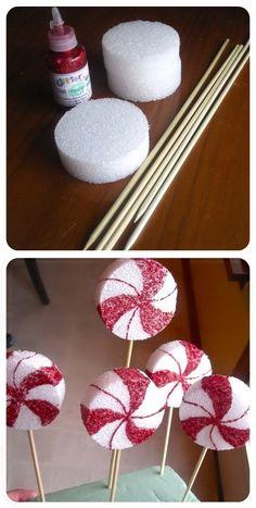 Peppermint lollipop decor