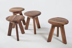 PEBBLE collection - solid WALNUT chairs
