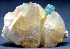 WOW 150 Gam Top Quality Terminated PARAIBA TOURMALINE Crystal on Quartz Specimen