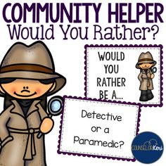 Community Helper Would You Rather? Game for Career Educati
