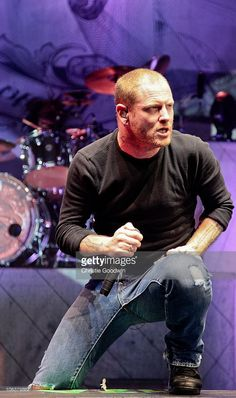 Corey Taylor of Stone Sour performs on stage at Hammersmith Apollo on October 30, 2010 in London, England.
