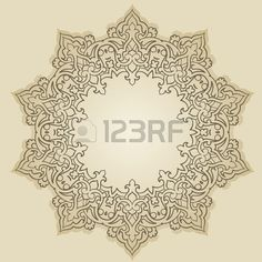 Vector of traditional Persian Arabic Turkish Islamic Pattern  Stock Vector