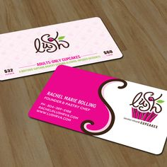 Business cards for alcohol-infused cupcakes. by chandrayaan.creative