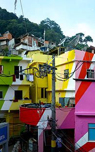 Artists Jeroen Koolhaas and Dre Urhahn transform the Rio favelas