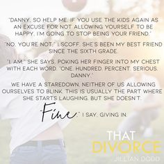 💕TUESDAY TEASER💕 That Divorce by Jillian Dodd