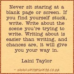 Quotable - Laini Taylor - Writers Write Creative Blog