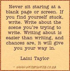 Quotable - Laini Taylor - Writers Write Creative Blog