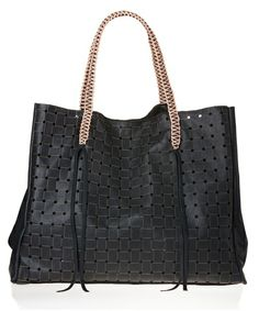 Black Basket Tote Bag by Callista #black #totebag #bag #fashion #style #handmade #leather