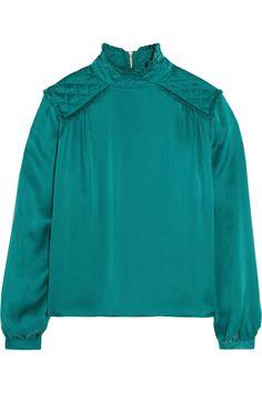 Pierre Balmain | Washed-silk blouse | NET-A-PORTER.COM