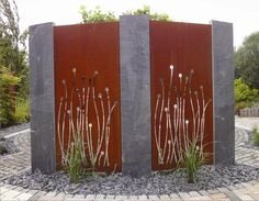 The Effective Pictures We Offer You About Garden Planning drought tolerant A quality picture can tell you many things. Metal Screen, Metal Fence, Outdoor Art, Outdoor Rooms, Metal Sculpture Wall Art, Metal Art, Garden Screening, Screening Ideas, Privacy Panels