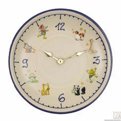 Wanduhr Terra-Keramik Keramik 26cm - Diese Uhr aus cremefarbener Keramik mit vielen Motiven bringt Leben an Ihre Wand! Die Keramikfläche ist zudem einfach feucht abwischbar.