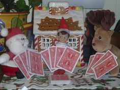 Fred playing cards with his friends.