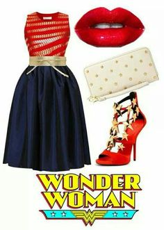 Wonder Woman inspired outfit by PFKimmerle Wonder Woman Birthday, Wonder Woman Party, Wonder Woman Quotes, Wonder Woman Outfit, Birthday Outfit For Women, Outfits Mujer, Pin Up, Dapper Day, Themed Outfits