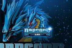 , Dragons - Mascot & Esport Logo- Suitable for your personal or squad logo, All elements on this template are editable with adobe illustrator! Logo Gaming, Logo Dragon, Game Logo Design, Esports Logo, Stoner Art, Black Cartoon, Branding, Box Design, Design Art