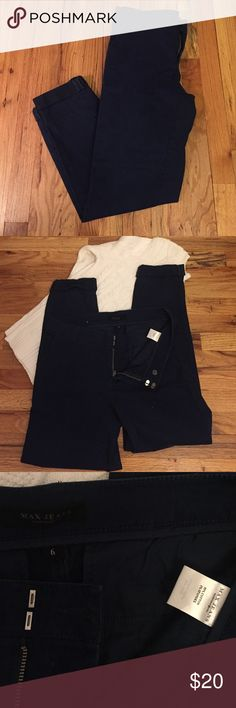 Pants Navy blue khakis - straight leg with rolled leg. These pants 👖 are super soft. Max Jeans Pants Straight Leg