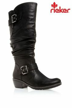 Buy Rieker® Tall Black Buckle Boots from the Next UK online shop 0d9202b4dd