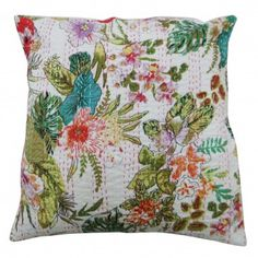 Floral Multicolor Cushion Cover Pillow Case Set of 1 pcs Home Décor Sofa Room